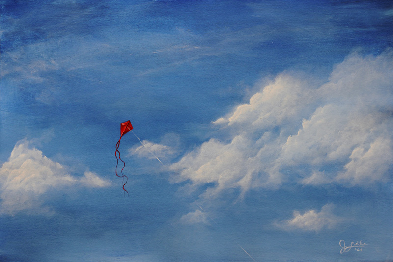 Kite in the Clouds