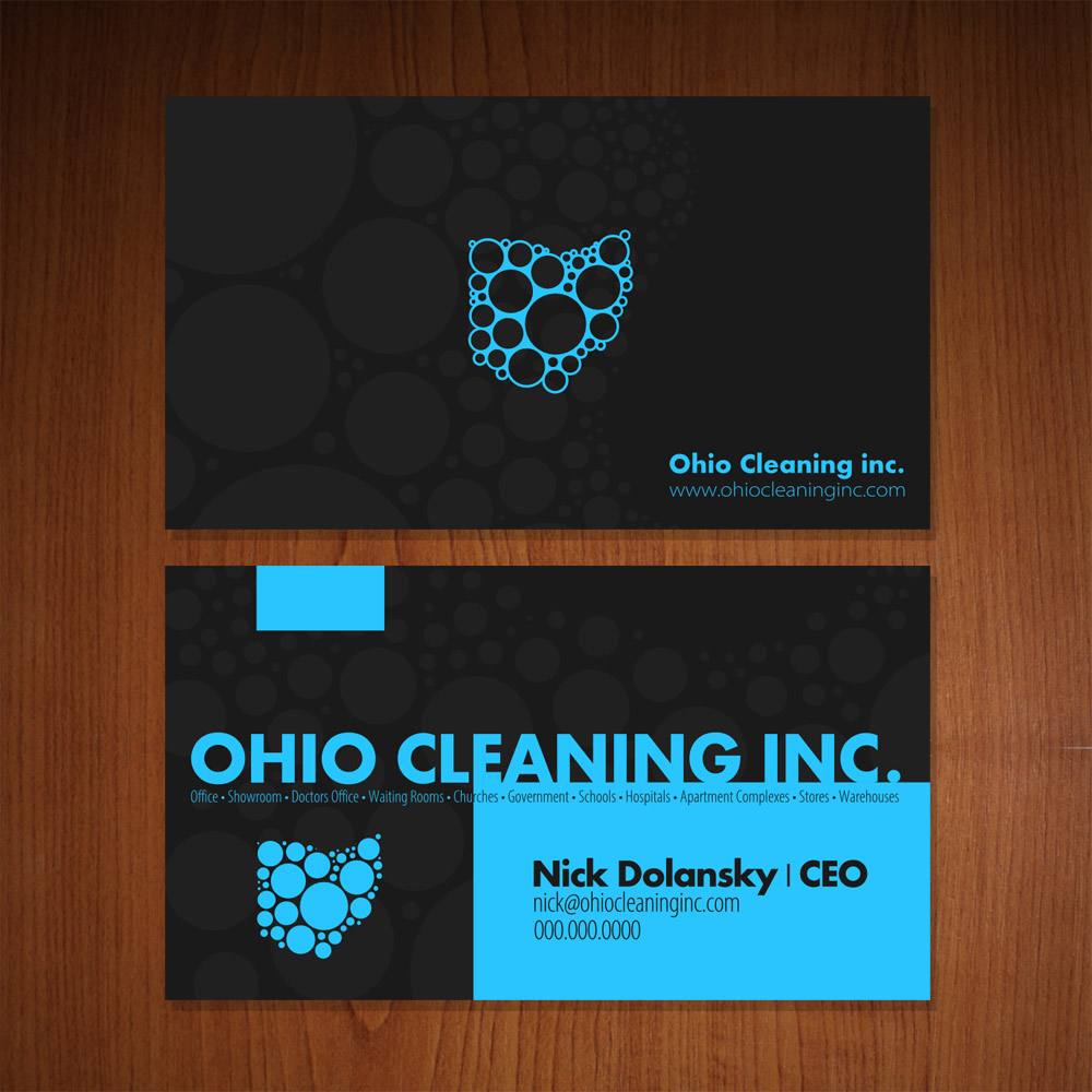 Ohio Cleaning Inc. Business Cards