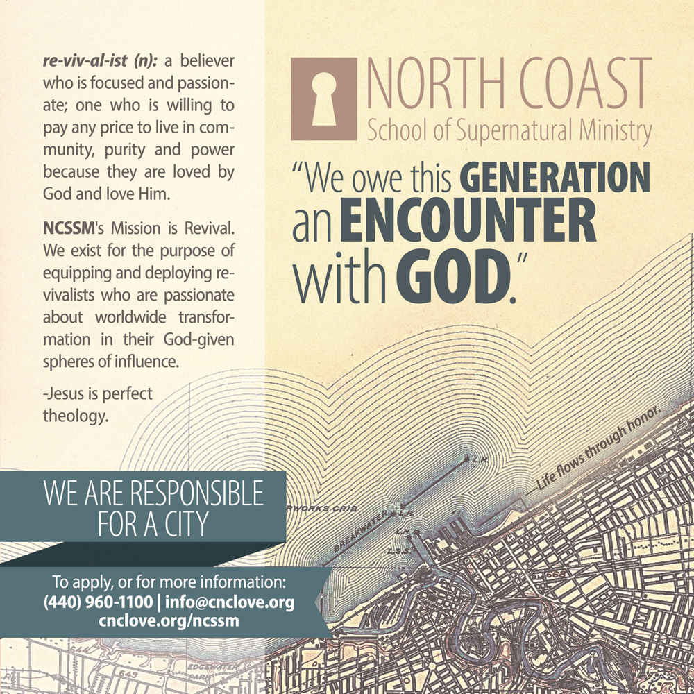 North Coast School of Supernatural Ministry Flyer Reverse