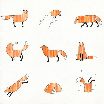9 Views of a Fox